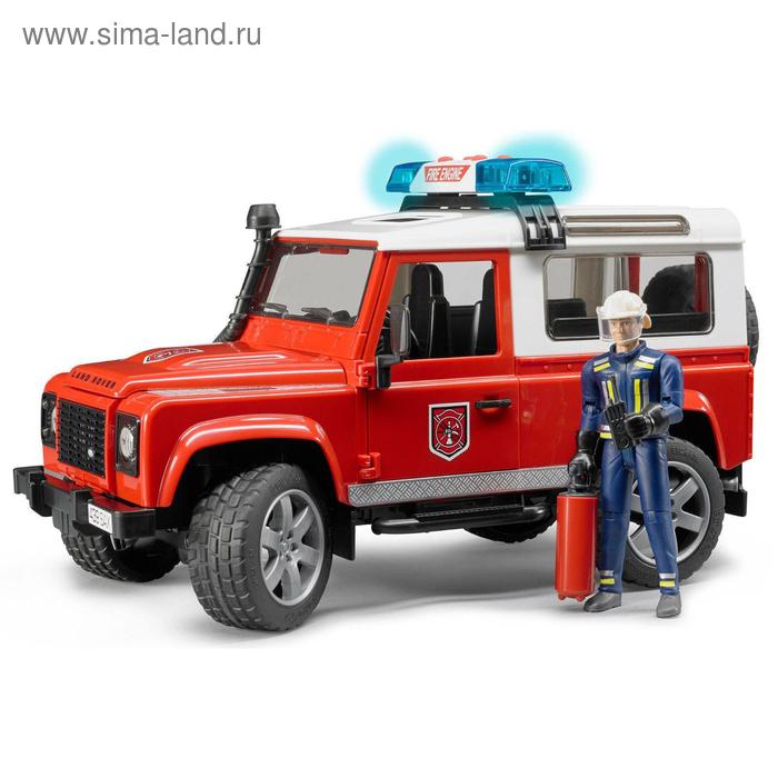 Внедорожник Land Rover Defender Station Wagon пожарный с фигуркой
