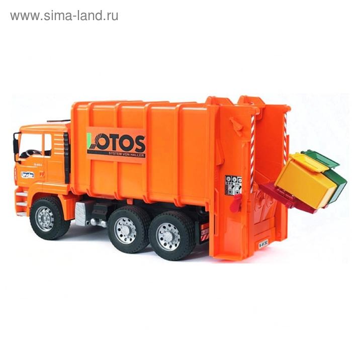 Мусоровоз MAN, оранжевый