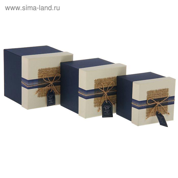 Набор коробок 3в1 квадрат (17*17*17,8/15*15*15,6/13*13*13,7 см)