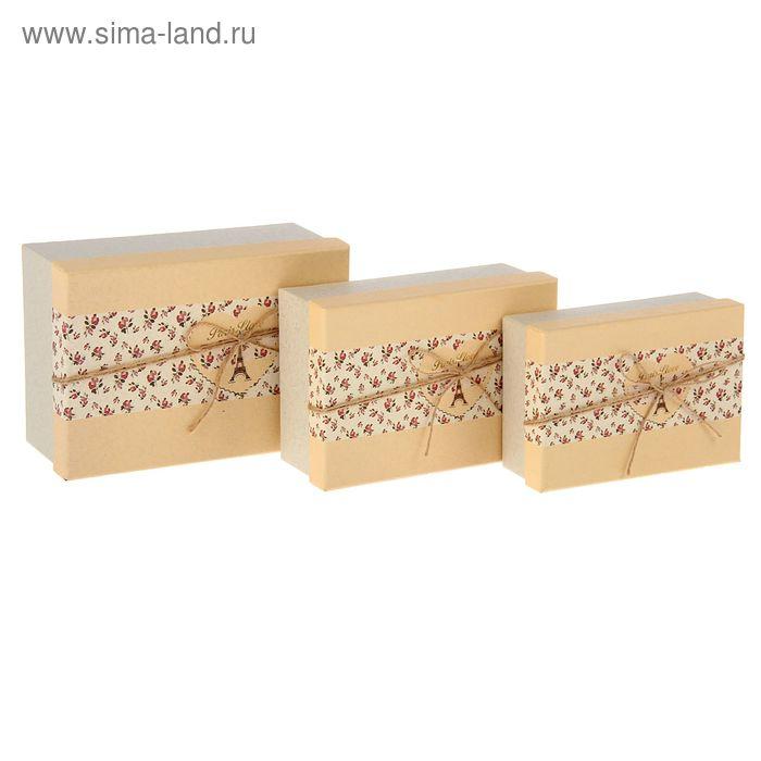 "Набор коробок 3в1 прямоуг ""Париж"" (22*15,5*9/21*14*7,5/19*12*6 см)"