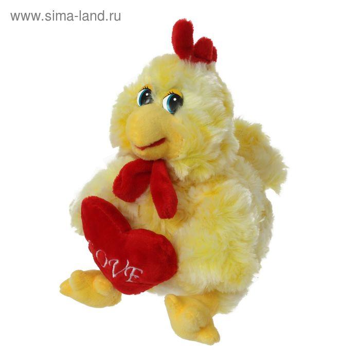 """Мягкая игрушка """"Петушок с сердцем"""" (сидит)"""