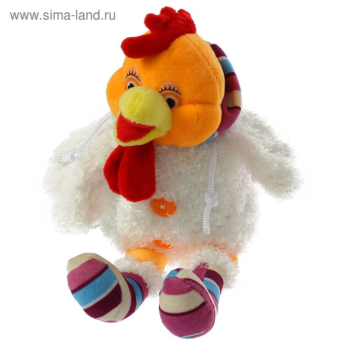 """Мягкая игрушка """"Петух в цветных носках"""", в кофте с капюшоном"""