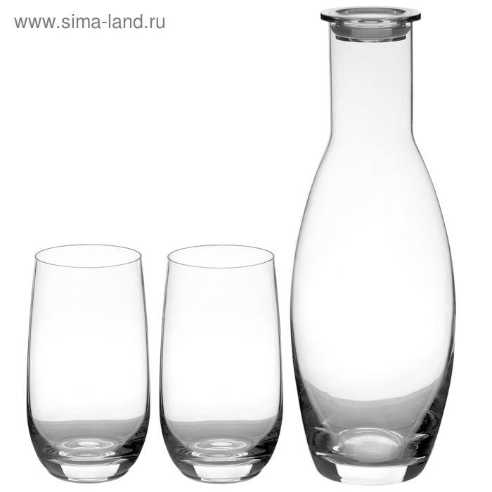 Набор для лимонада: графин 1,27 л с силиконовой пробкой, 2 стакана 350 мл