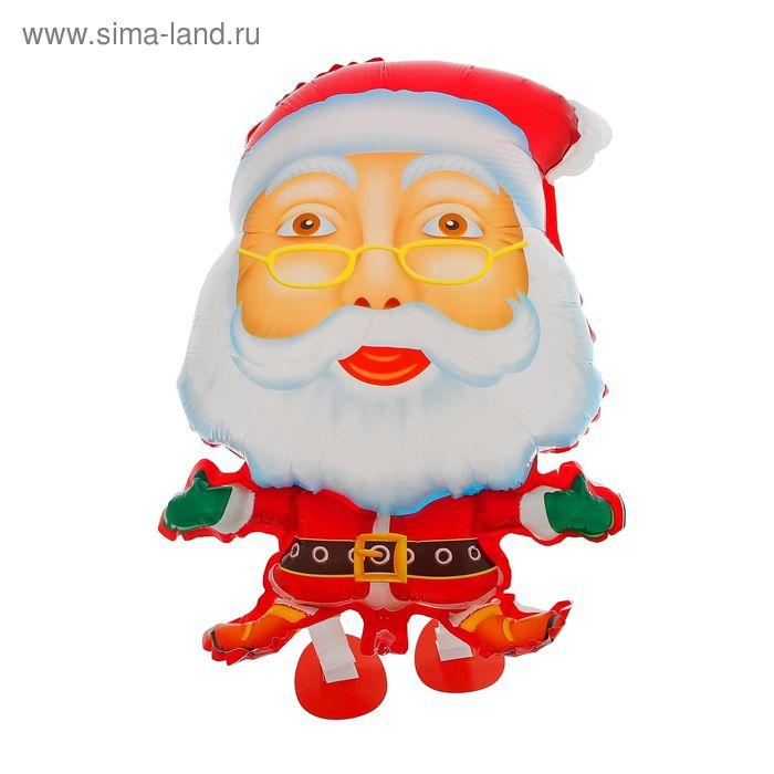 """Шар фольгированный 32"""" """"Санта Клаус"""" ходячий"""