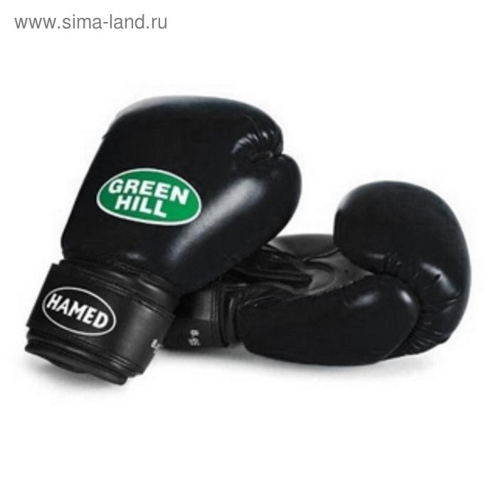 Боксерские перчатки BGH-2036 HAMED черный без таргета  8 oz  бок