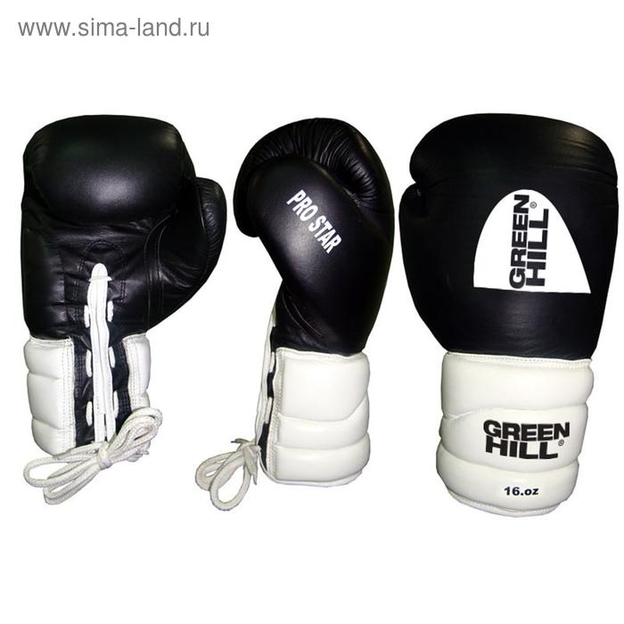 Боксерские перчатки BGPS-2012 PRO STAR 12 oz кожа черные