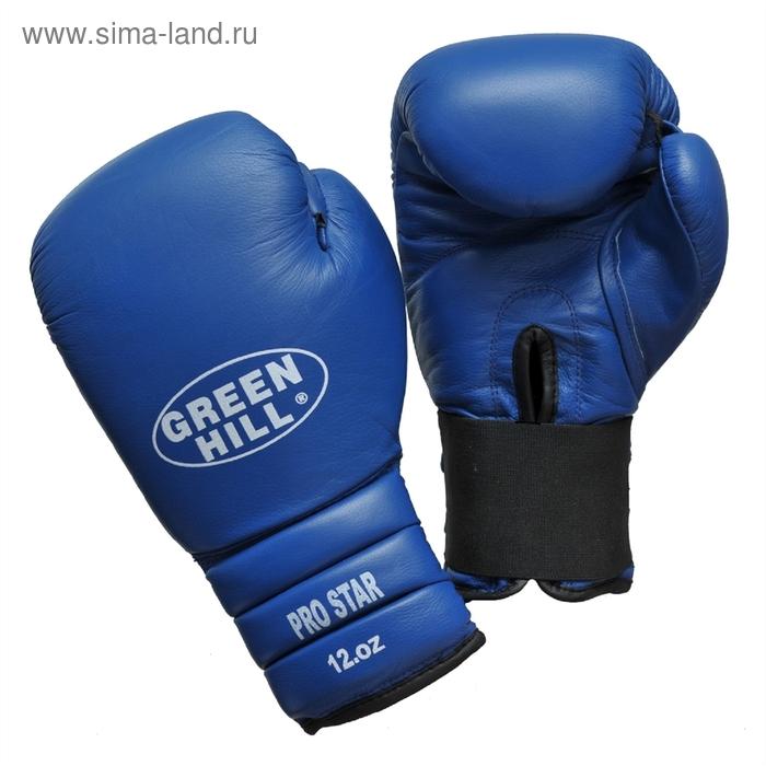 Боксерские перчатки BGPS-2012 PRO STAR 16 oz кожа синие