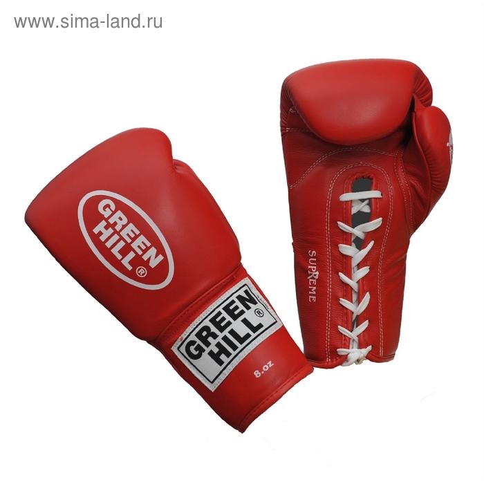 Боксерские перчатки BGS-2111 SUPREME 10oz красные кожа