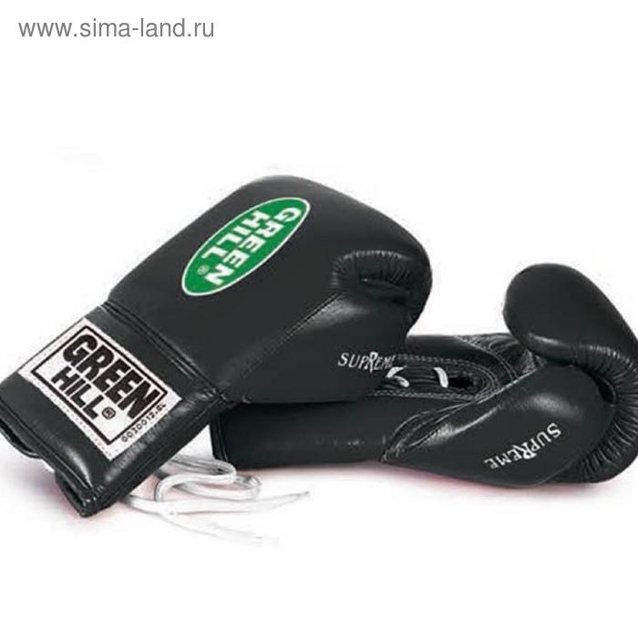 Боксерские перчатки BGS-2111 SUPREME 10oz черные кожа