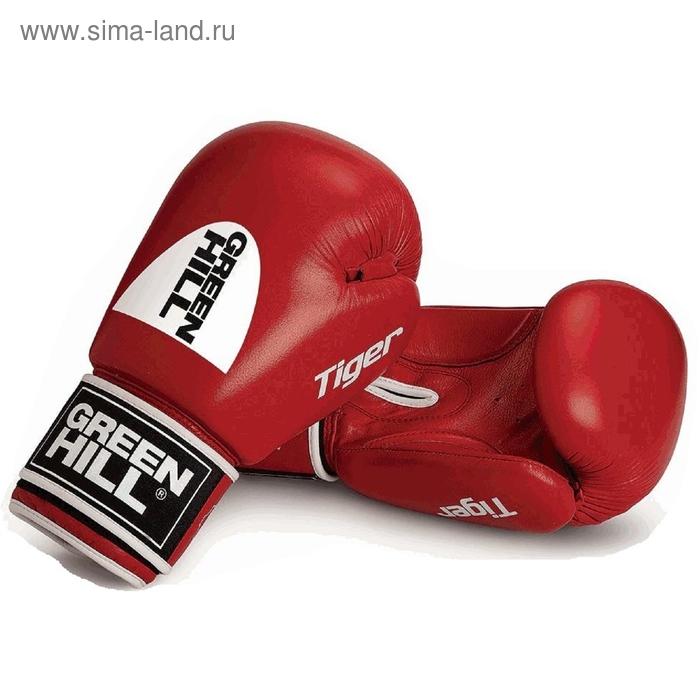 Боксерские перчатки BGT-2010с TIGER  красные 14oz новый логотип