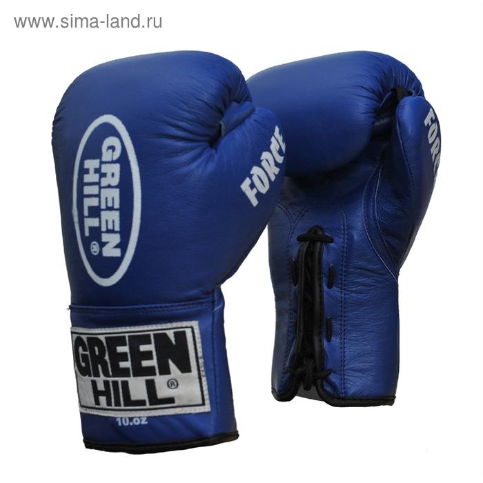 Боксерские перчатки BGD-1215 FORCE 16 oz синие
