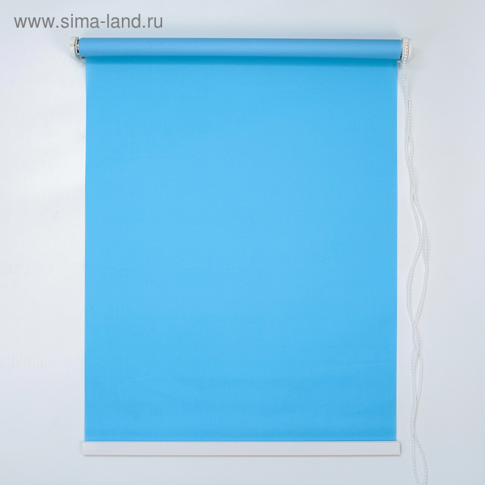 Штора рулонная 120х180 см, цвет голубой