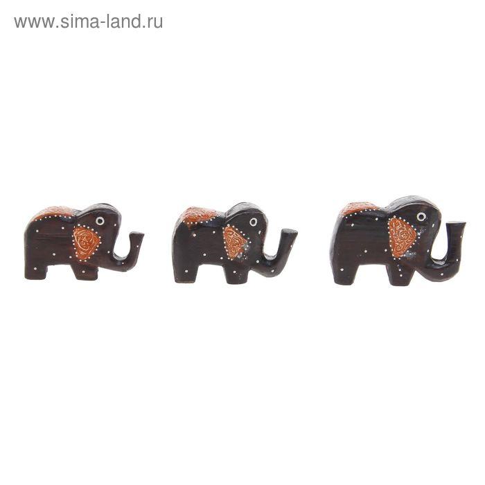 """Набор сувениров """"Три слона"""" 10, 11, 12 см"""