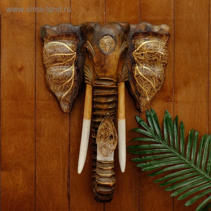 """Сувенир """"Голова слона"""" тёмный"""
