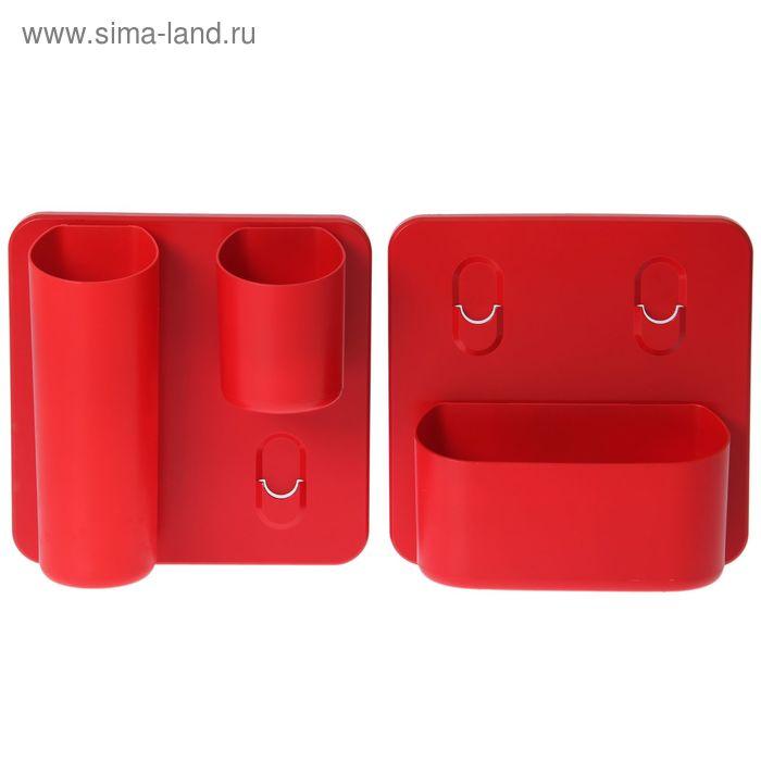 Фитомодуль со съёмными кашпо, набор 5 предметов, красный