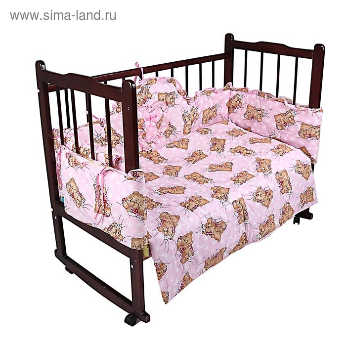"""Комплект """"Спящие мишки"""" (3 предмета), цвет розовый 31"""