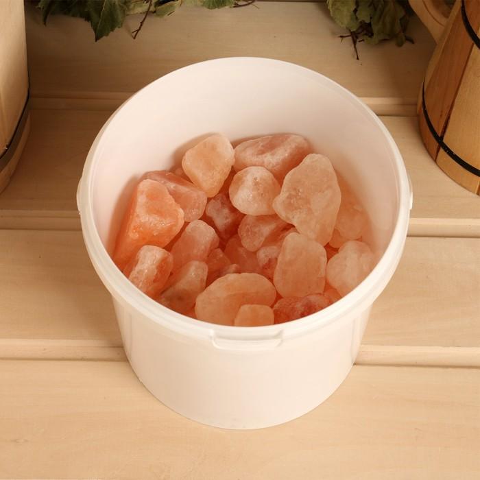 Соль гималайская галька фракция 50-100мм, 2 кг, ведро