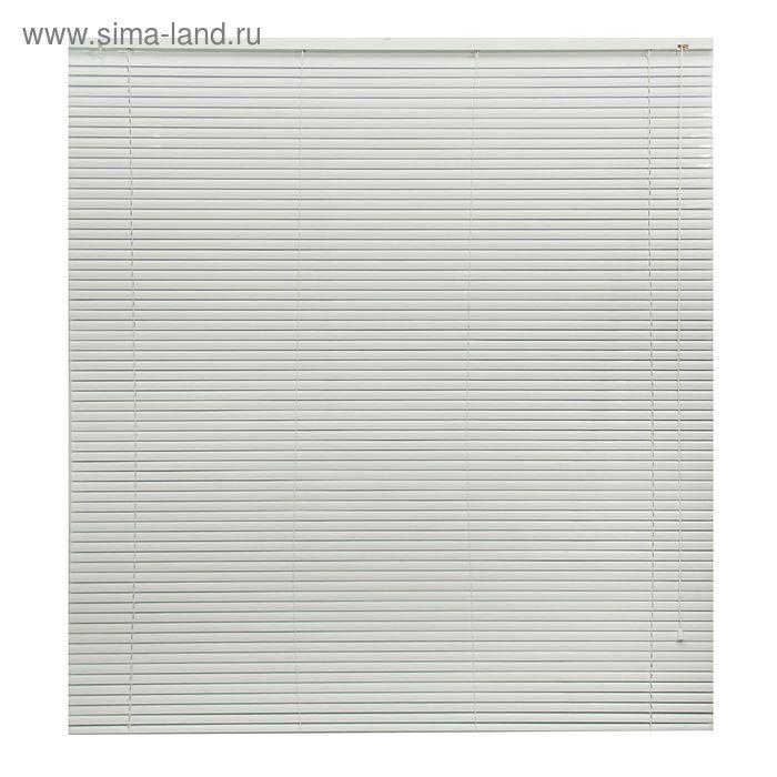 Жалюзи горизонтальные 150х160 см, цвет белый