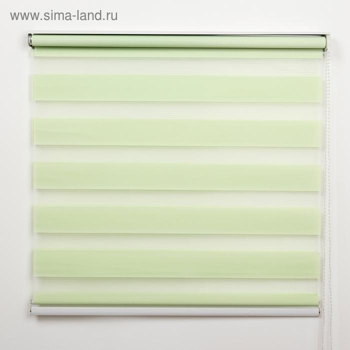 """Штора рулонная 90х180 см """"День-Ночь"""", цвет зеленый"""