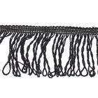 "Тесьма декоративная ""Бахромушка"", ширина 5см, длина 5±1м, цвет чёрный"