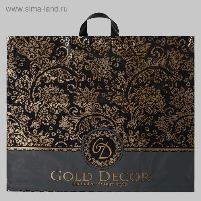 """Пакет """"Голд декор"""", полиэтиленовый с петлевой ручкой, 60х50 см, 70 мкм"""