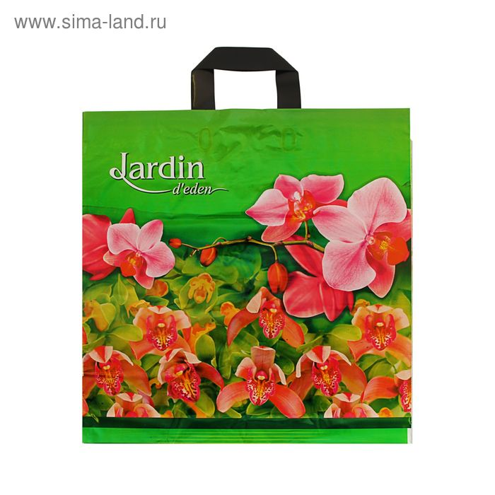 """Пакет """"Райский сад"""", полиэтиленовый с петлевой ручкой, 44х44 см, 70 мкм"""