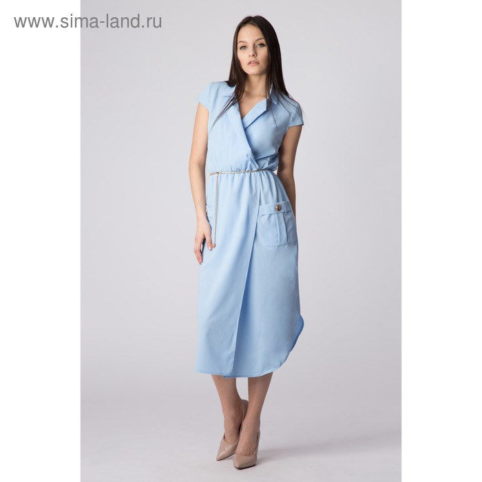 Платье женское, размер 44, рост 168, цвет голубой (арт. 17251)