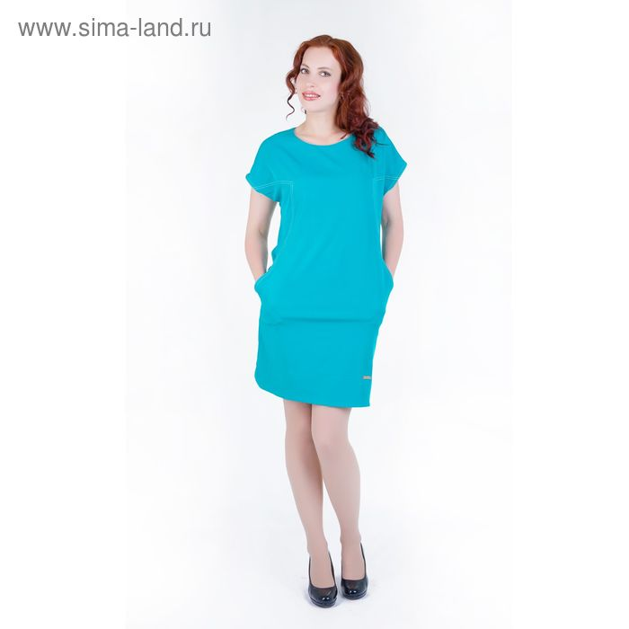 Платье женское, размер 48, рост 168, цвет бирюза (арт.17238)