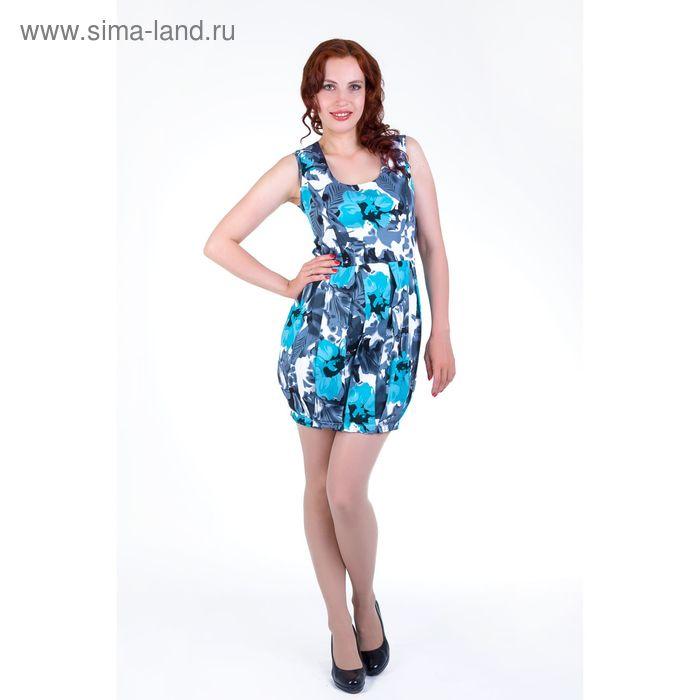 Платье женское, размер 44, рост 168, цвет голубой (арт.17139)