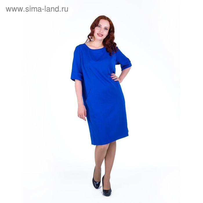 Платье женское, размер 52, рост 168, цвет электрик (арт. 17249 С+)