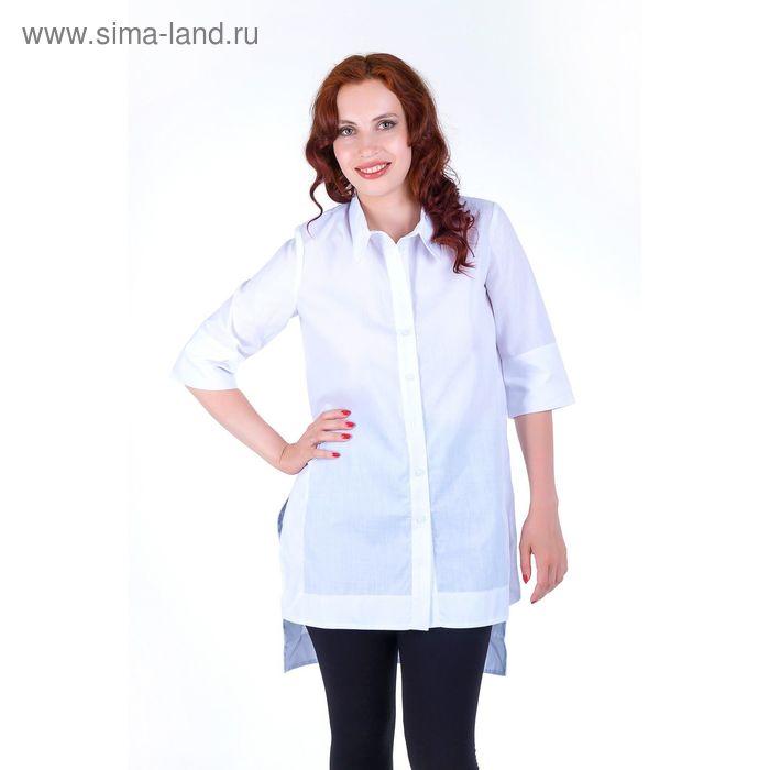 Платье женское, размер 56, рост 168,цвет белый х/б (арт.17247 С+)