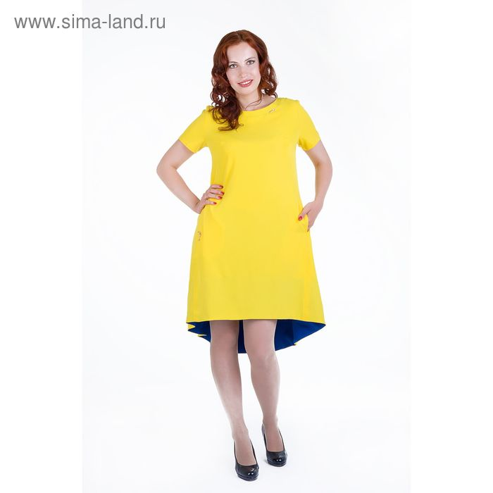 Платье женское, размер 46, рост 168, цвет желтый (арт. 17250)