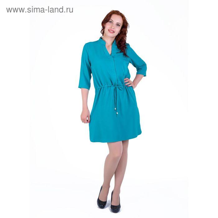 Платье женское, размер 56, рост 168, цвет бирюза (арт. 17248 С+)