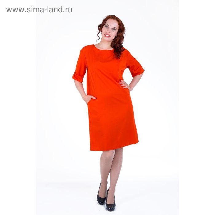 Платье женское, размер 52, рост 168, цвет красный (арт. 17249 С+)