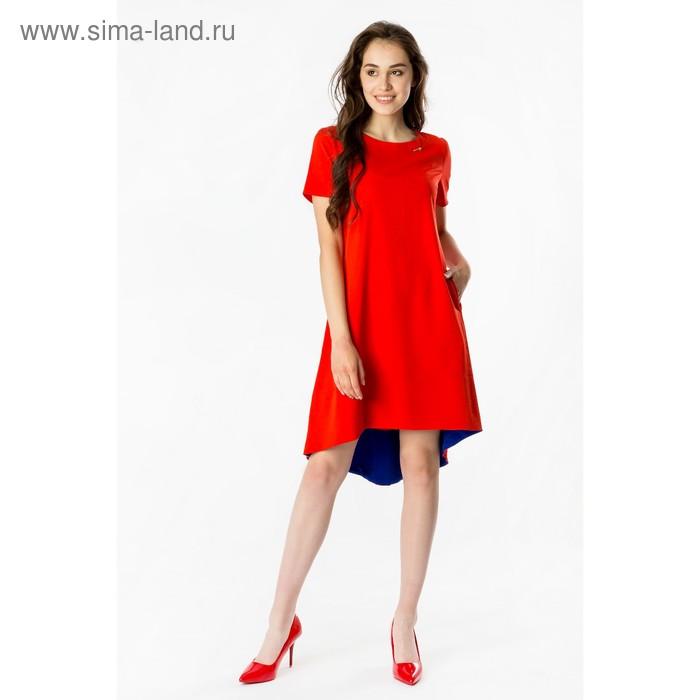 Платье женское, размер 46, рост 168, цвет красный (арт. 17250)