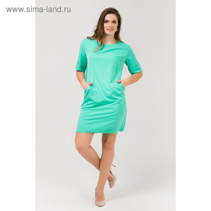 Платье женское, размер 56, рост 168, цвет мята (арт. 17249 С+)