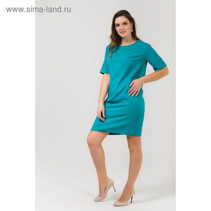 Платье женское, размер 52, рост 168, цвет бирюза (арт. 17249 С+)