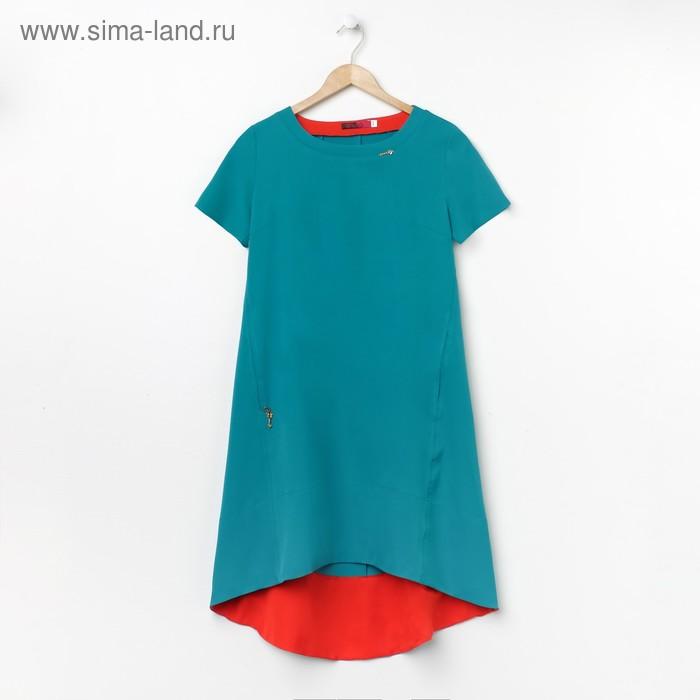 Платье женское, размер 44, рост 168, цвет бирюза (арт. 17250)