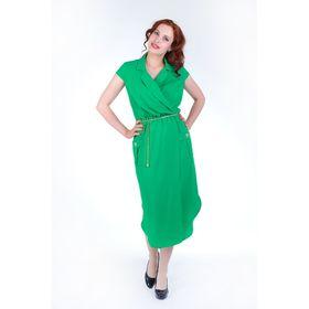 Платье женское, цвет зелёный, размер 56, рост 168 см (арт. 17251)
