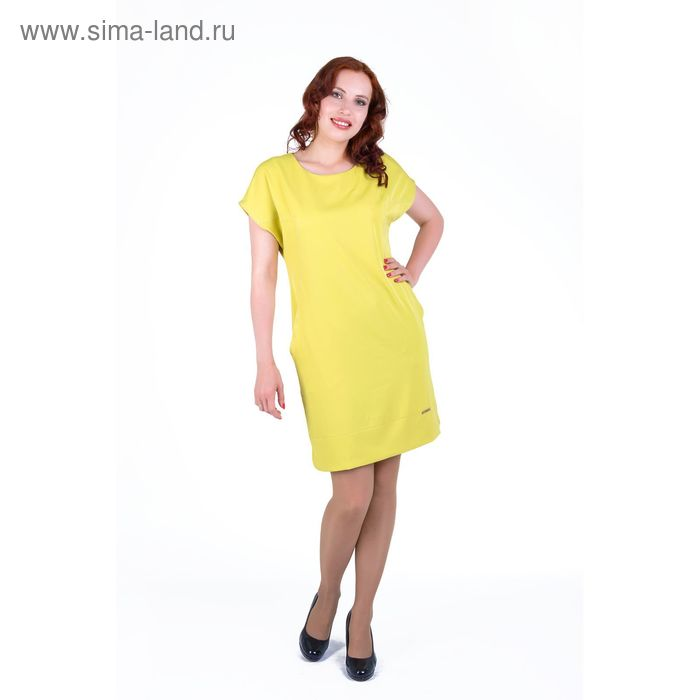 Платье женское , размер 54, рост 168, цвет лайм (арт. 17238 С+)