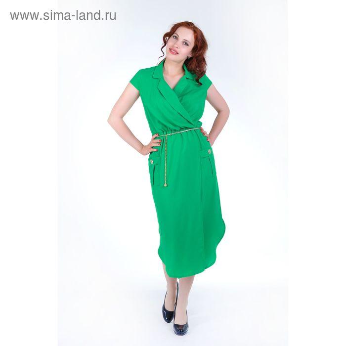 Платье женское, размер 46, рост 168, цвет зеленый (арт. 17251)