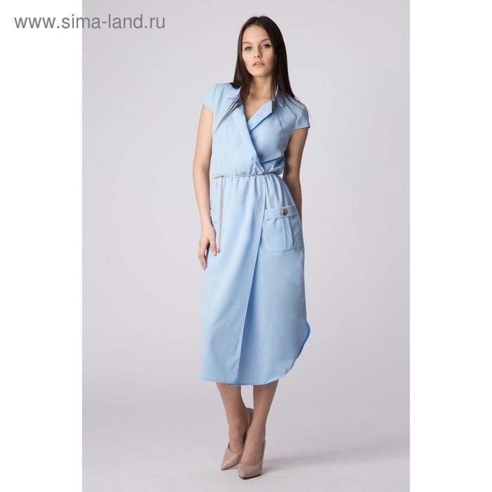 Платье женское, размер 50, рост 168, цвет голубой (арт. 17251 С+)