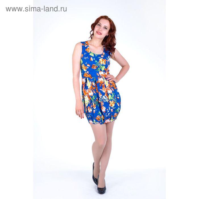 Платье женское, размер 46, рост 168, цвет электрик (арт.17139)