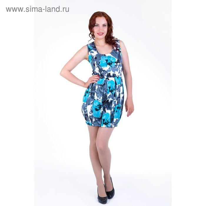 Платье женское, размер 42, рост 168, цвет голубой (арт.17139)