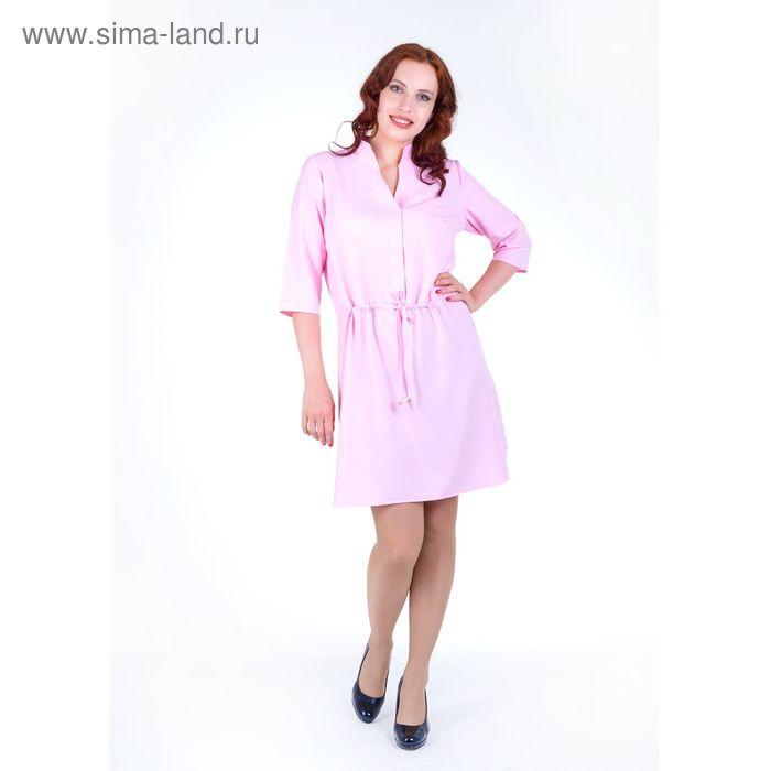 Платье женское, размер 52, рост 168, цвет розовый (арт. 17248 С+)