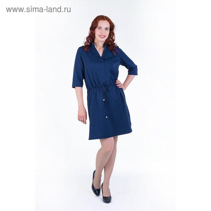 Платье женское, размер 56, рост 168, цвет темно-синий (арт. 17248 С+)