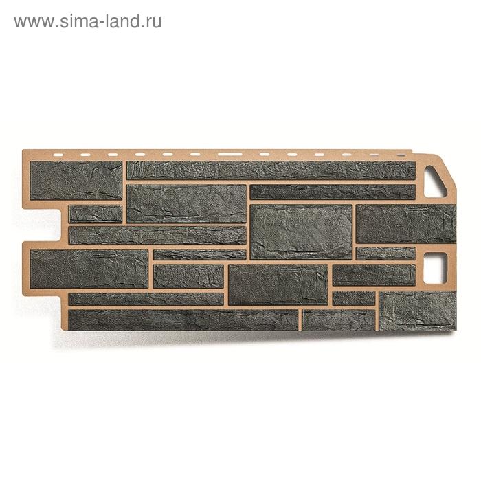 """Фасадная панель """"Камень"""", серый 1,14х0,48м"""
