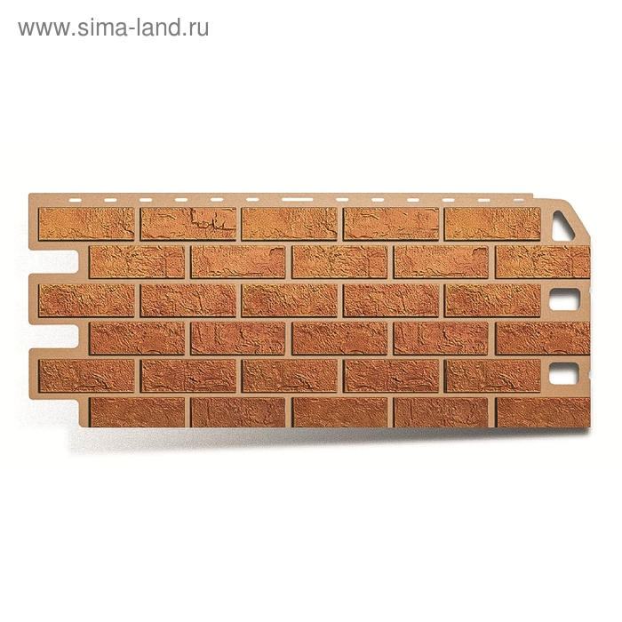 "Фасадная панель ""Кирпич"", бежевый 1,14х0,48м"