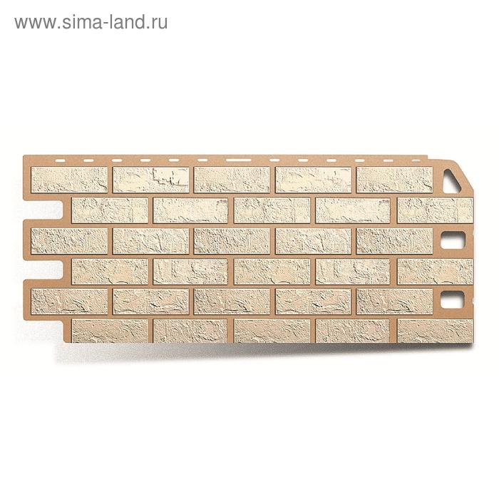 "Фасадная панель ""Кирпич"", белый 1,14х0,48м"