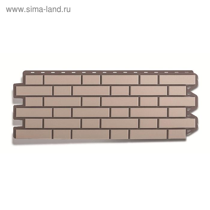 """Фасадная панель """"Кирпич клинкерный"""", белый 1,22х0,44м"""